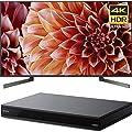 Sony 55-Inch 4K Ultra HD Smart LED TV 2018 Model (XBR55X900F) with Sony 4K Ultra HD Smart Blu-Ray Player with Hi Res 2017 Model