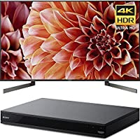Sony Bravia XBR55X900F 55 4K HDR HLG and Dolby Vision UHD TV 3840x2160 & Sony UBPX800 4K HDR UHD Blu-Ray Player with Dolby Atmos 3D