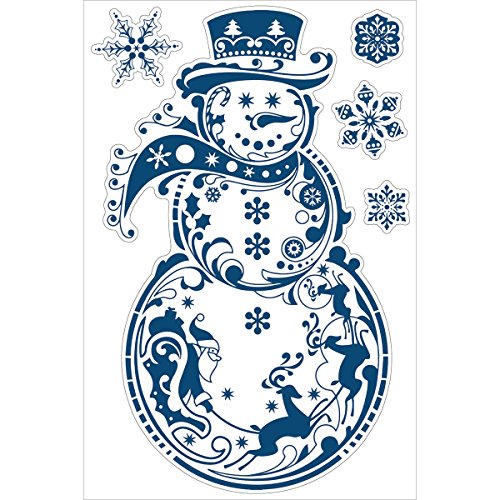 Inkadinkado 24 x 36-Inch Wall Decal, Large, Snowman