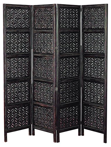 Deco 79 Wood 4 Panel Screen for Privacy and Decor Both
