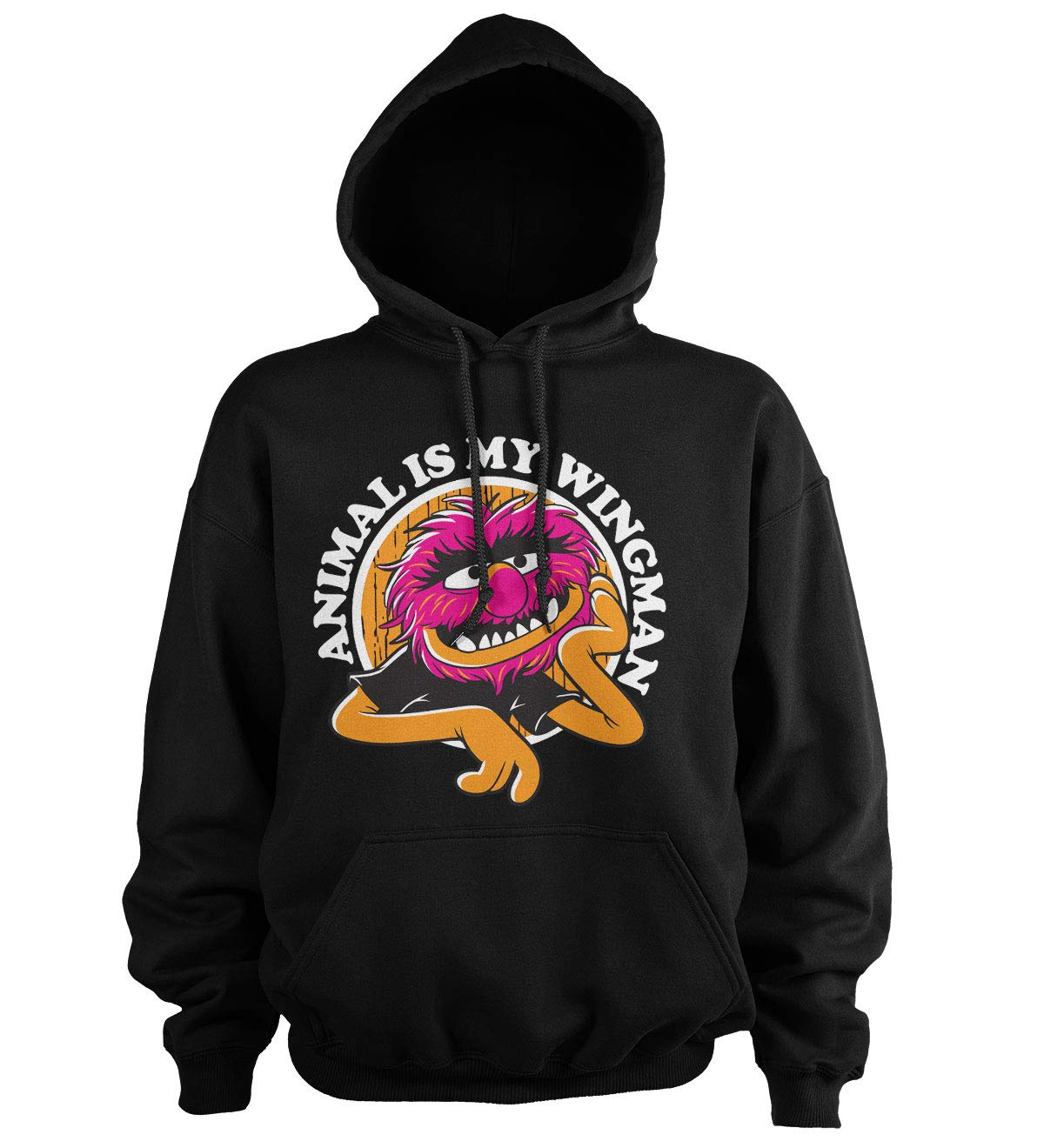The Muppets Officially Licensed Animal is My Wingman Big & Tall Hoodie (Black) 3X-Large by The Muppets