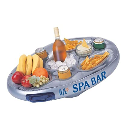 Etonnant Life Floating Spa Bar Inflatable Hot Tub Side Tray For Drinks And Snacks
