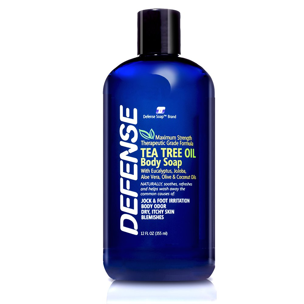 Defense Soap Body Wash Shower Gel 12 Oz - Natural Tea Tree Eucalyptus Oil