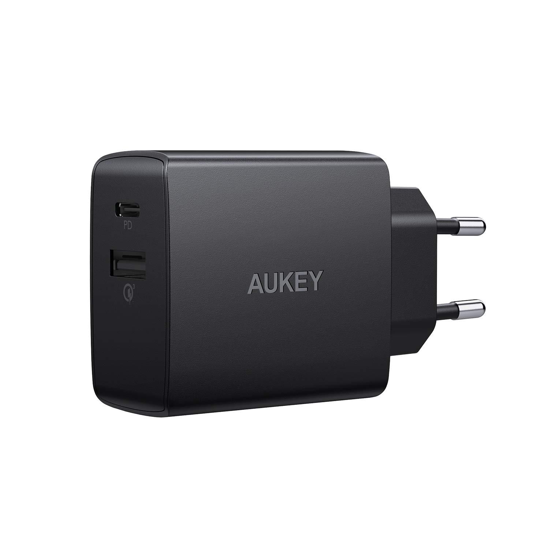 AUKEY USB C Caricabatteria da Muro con 18W