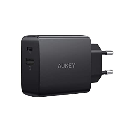 AUKEY USB C Cargador con Power Delivery & Quick Charge 3.0, 18 W ...