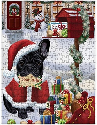 Amazon french bulldogs dear santa letter christmas holiday french bulldogs dear santa letter christmas holiday mailbox dog puzzle with photo tin 551 pc spiritdancerdesigns Images