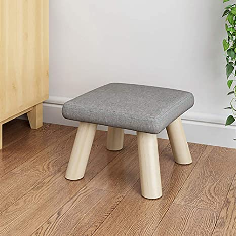 Marvelous Amazon Com Solid Wood Square Footstool Ottoman Pouffe Cute Theyellowbook Wood Chair Design Ideas Theyellowbookinfo