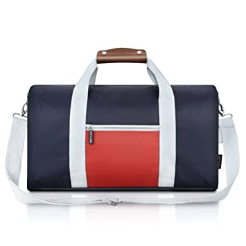 REYLEO Travel Duffle Bag Business Holdall Water Resistant Nylon Overnight Weekend Sports Gym Handbag