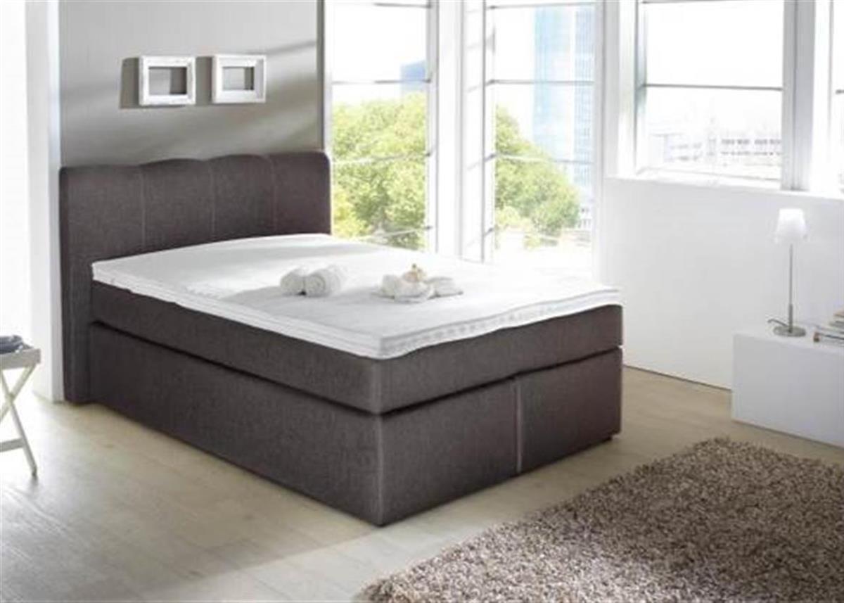 Kasper Wohndesign Box Spring Bed Sky 140 X 200 Cm Fabric Brown