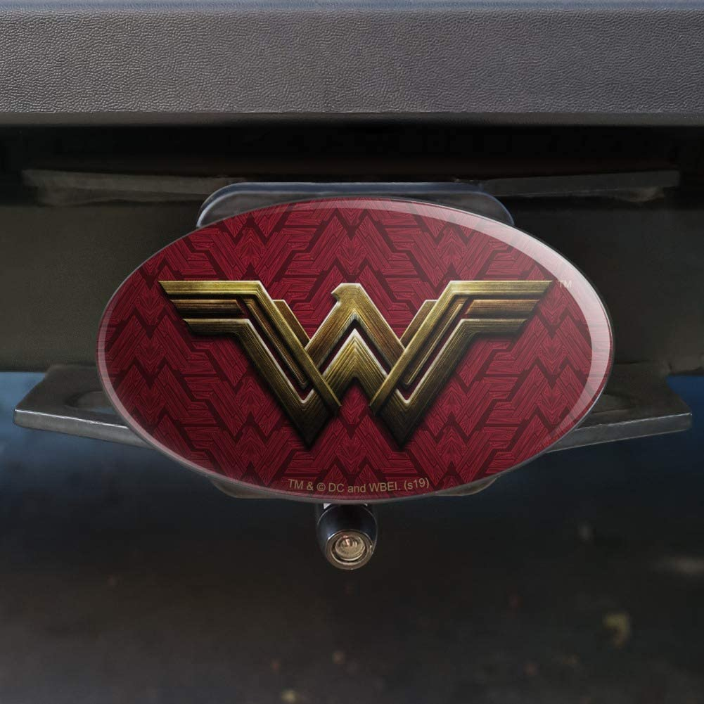 Graphics and More Justice League Movie Wonder Woman Logo Oval Tow Trailer Hitch Cover Plug Insert