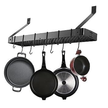 yontree Organizador de Cocina (Hierro Colgante de techo rack ...