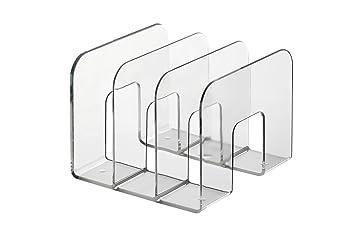 Durable Trend - Soporte para archivadores con 3 compartimentos, transparente: Amazon.es: Oficina y papelería