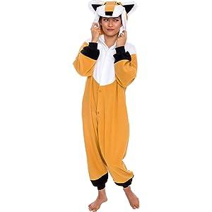Silver Lilly Unisex Adult Pajamas - Plush One Piece Cosplay Fox Animal  Costume dfcc58c18