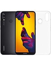 """Huawei P20 Lite (Nero) più cover trasparente, Telefono con 64 GB, Display 5.84"""" Full HD+, Doppia fotocamera posteriore 16+2 Mpx, Processore Octa Core dinamico con IA [Versione Italiana]"""