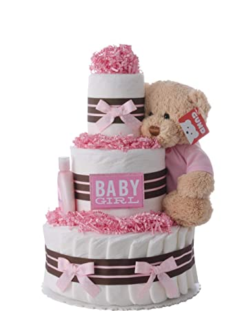 Amazoncom Diaper Cake Darling Girl Theme Handmade By Lil Baby