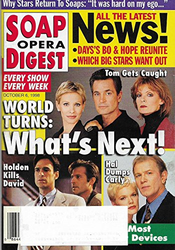- Kelley Menighan-Hensley, Scott Holmes & Ellen Dolan l Benjamin Hendrickson & Maura West l Jon Hensley & Daniel Markel (As the World Turns) - October 6, 1998 Soap Opera Digest