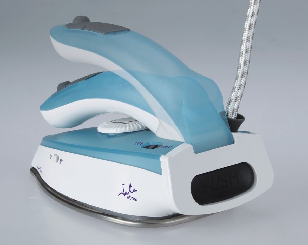 Jata PL297 Travel Iron Dual Voltage Stainless Steel Sole Plate 1000W