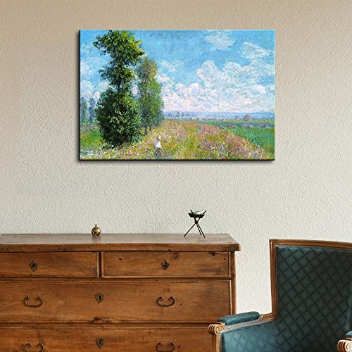 Meadow with Poplars by Claude Monet Impressionist Art