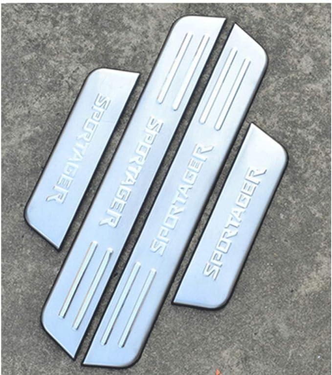 Acciaio Inossidabile Antiscivolo AntiGraffio Styling Sticker Accessori ASDDD 4Pcs Auto Esterno Protector Battitacco Porta Soglia per KIA Sportage QL 4 2016-2019 Kick Plates Door Sill Scuff