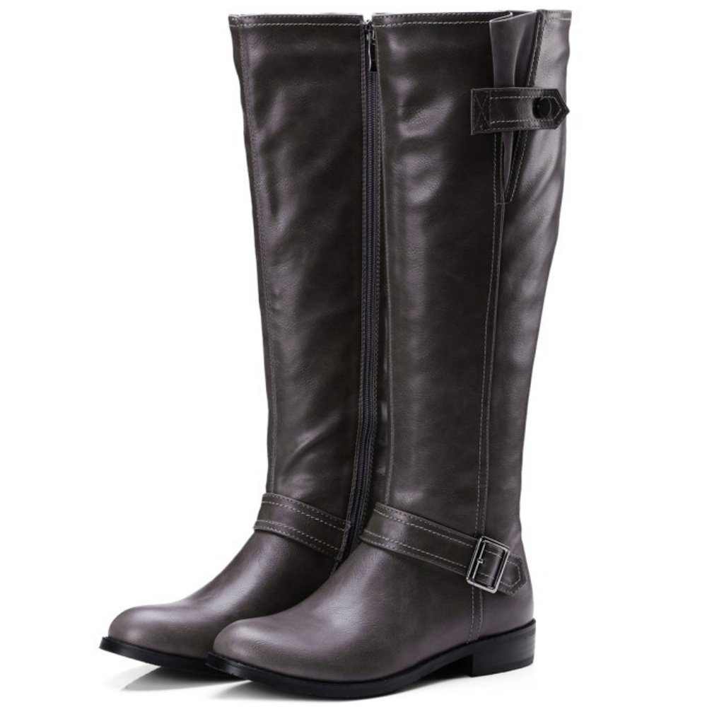 TAOFFEN Women Classic Winter Riding Boots Zipper Boots Long Boots Zipper B076HNQQXB Boots b4d9d7