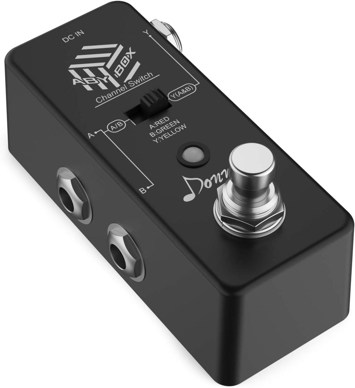 Donner.ABY BOX Pedal de Efectos/ABY Line Selector mini Pedal para Guitarra True bypass