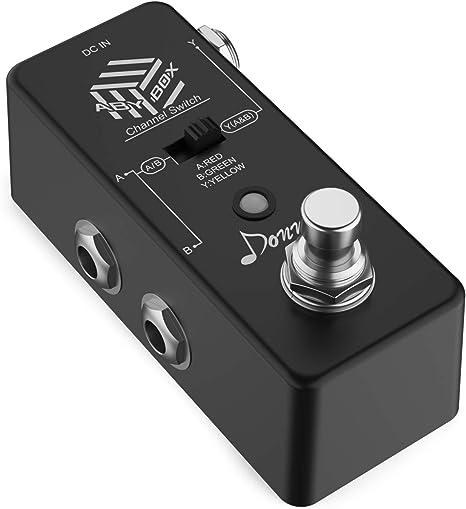 Donner.ABY BOX Pedal de Efectos/ABY Line Selector mini Pedal para ...