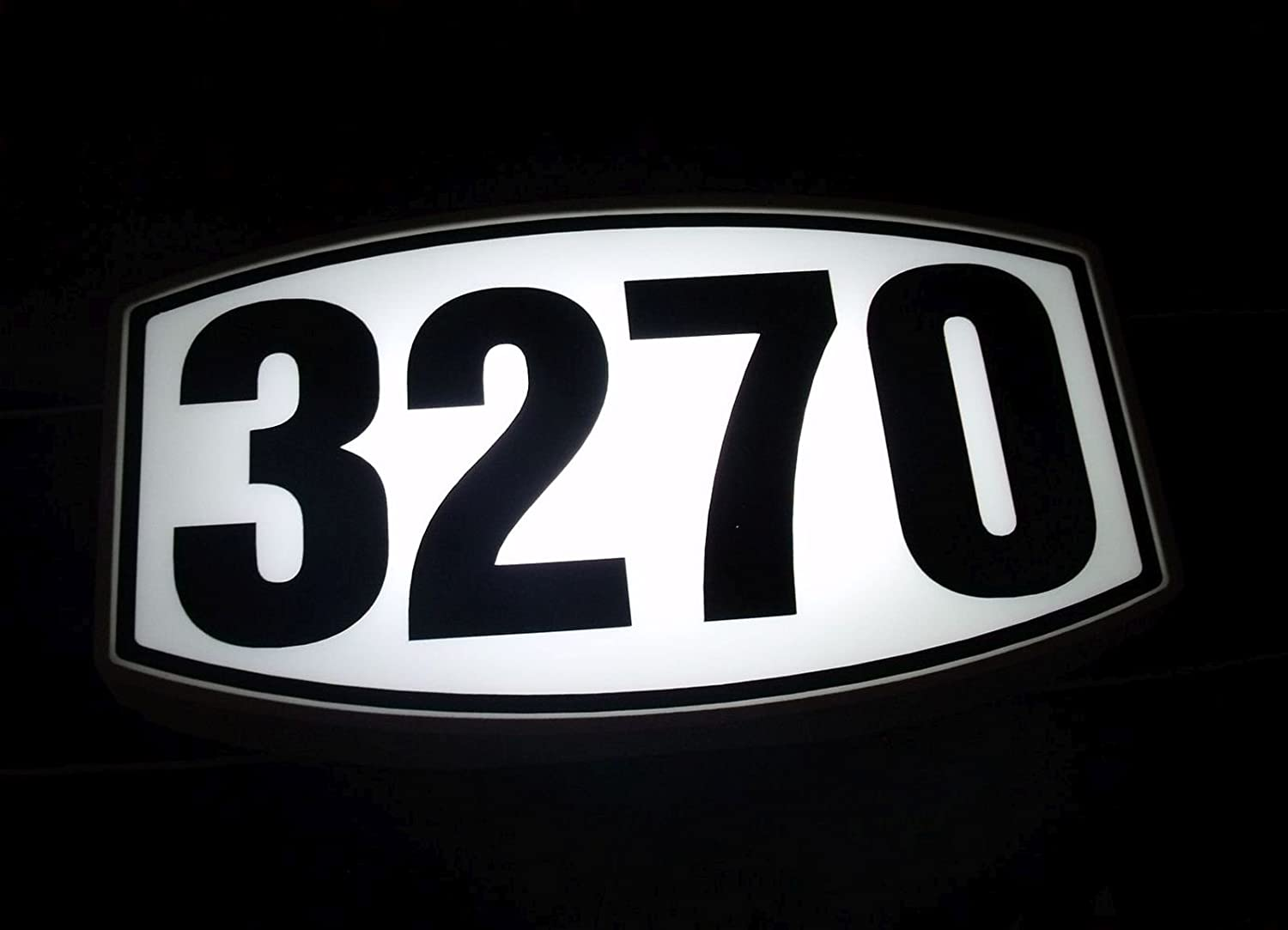 CUSTOM BACK-LIT LED ADDRESS SIGN LIGHTED HOUSE NUMBER ILLUMINATED ADDRESS SIGN LED LIGHTED ADDRESS PLAQUE