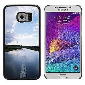 TopCaseStore / la caja del caucho duro de la cubierta de protección de la piel - Nature Water Road - Samsung Galaxy S6 EDGE SM-G925