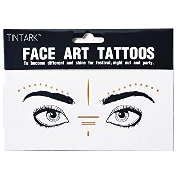 Amazon.com : Yuccer Face Tattoo Sticker, Fake Freckles Metallic Makeup Glitter Festival Accessories 2 Pack (F19) : Beauty