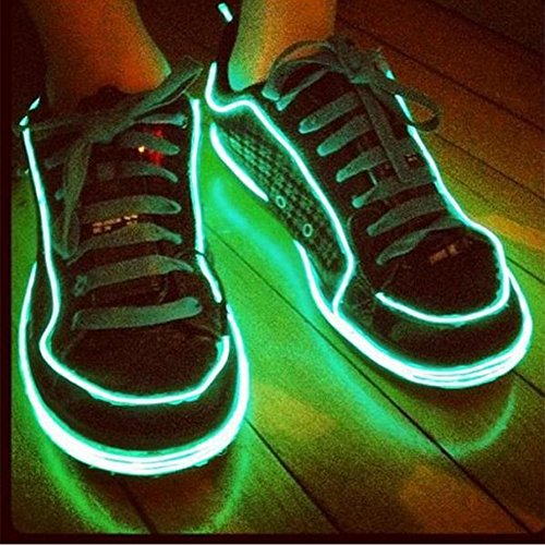 YCDC 4X Dark Green Flexible EL Wire Lights Glow +3V Controller Dance Party Decor by YCDC (Image #3)