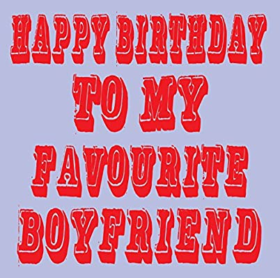 Feliz cumpleaños a mi favorito novio tarjeta: Amazon.es ...