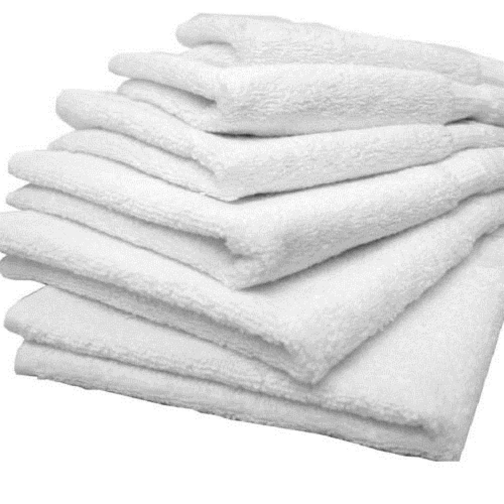 12 White Hair Bath Salon Gym Workout Towels 24x50 100% Cotton Wholesale