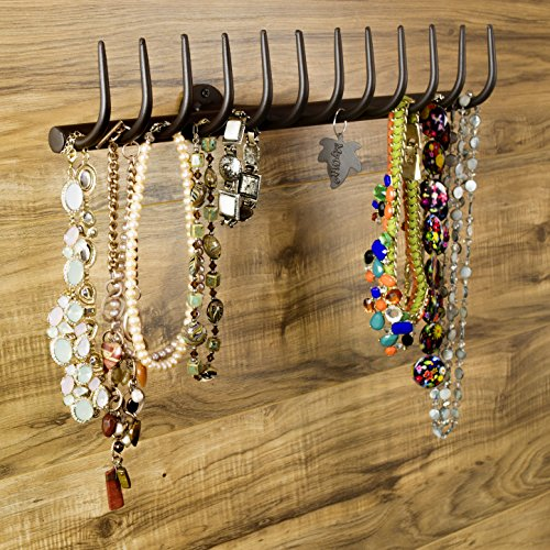 12 Hook Country Mounted Necklace Organizer