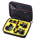 Smatree SmaCase G260sw Carrying Case for Gopro Hero 5,4, 3+, 3, 2,1 (Camera and Accessories NOT included)-Black&Yellow