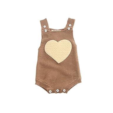 4a9e8e77020c Amazon.com  Toddler Baby Girls Boys Heart Star Knitted Sweater ...