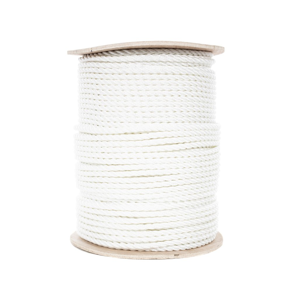 Utility Choose from Multiple Lengths and Widths Comes in White 3 Strand Twisted Polyester Rope High Strength Crafting Low Stretch and More PARACORD PLANET Multiple Uses