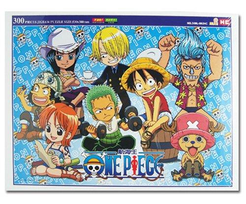 One Piece: Chibi Straw Hat Pirates Group Image 300 Piece Puzzle