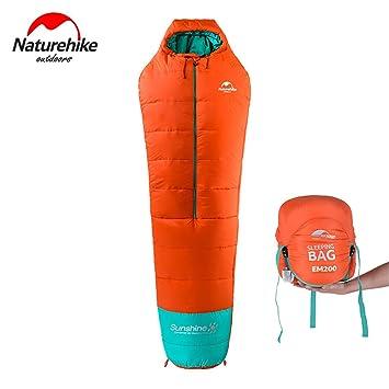 0 grado ligero momia saco de dormir al aire libre Camping algodón saco de dormir, OrangeEM200: Amazon.es: Deportes y aire libre