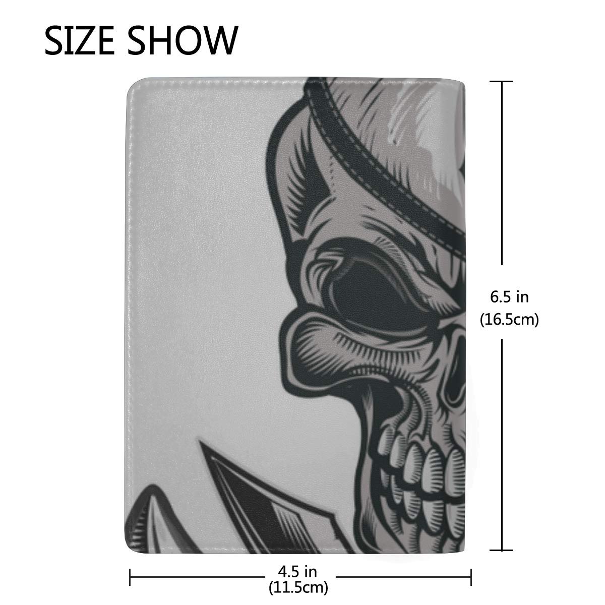 A Rope-wound Anchor Blocking Print Passport Holder Cover Case Travel Luggage Passport Wallet Card Holder Made With Leather For Men Women Kids Family