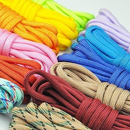 Bunt Schnallen und Flint Fire Starter Scraper Whistle UCEC 12/Rainbow Farbe Parachute Cord Paracord Geflochten Weben DIY Craft Tool Kit mit Jig Armband Kunststoff Maker Loom