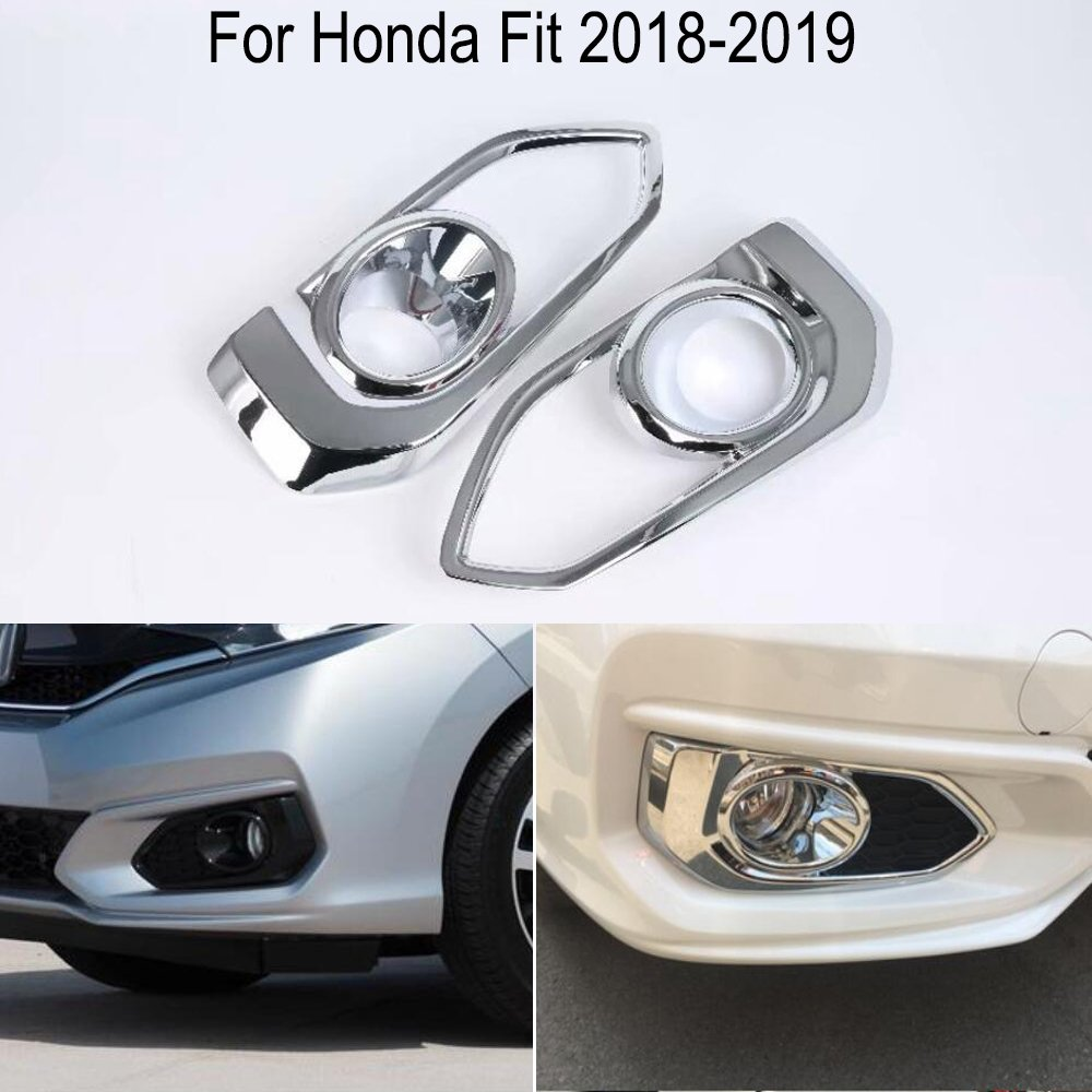 2pcs New ABS Chrome Front Fog Light Lamp Cover Trim For