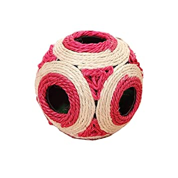 GAMT Sisal cáñamo tejer Bola para gatos mascota productos gato tejido Grind juguetes Natural Sisal pelota: Amazon.es: Productos para mascotas