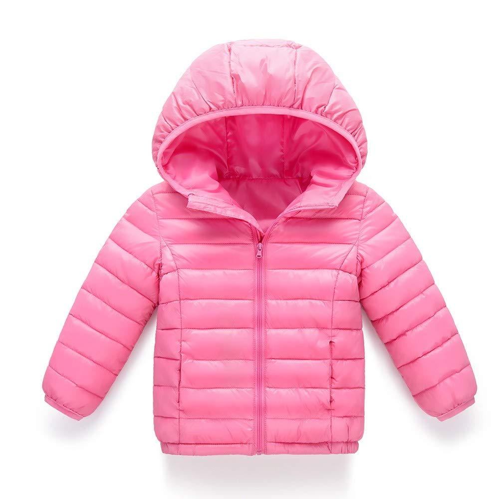 Baby Outfits for Girls 0-3 Months,Baby Girl Boy Kids Cotton Jacket Coat Hooded Autumn Winter Warm Children Clothes,Baby Girls Sleepwear /& Robes,Pink,160