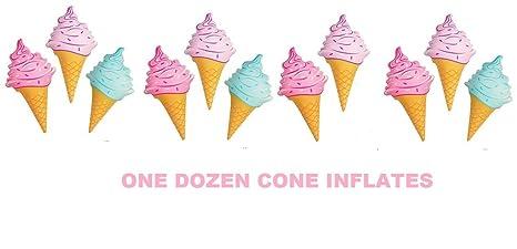 amazon com ice cream cone inflates 12pk inflatable ice cream