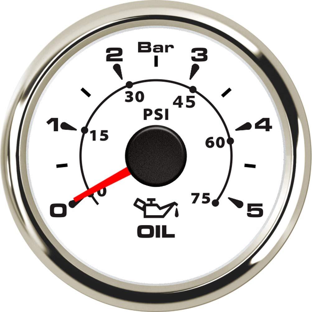 Samdo 0-5Bar 0-75 Psi Oil Pressure Meter 7 Color Backlight 52mm Auto Car Truck Universal Oil Press Gauge 9-32V