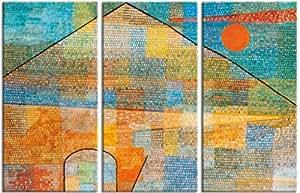 Paul Klee - Ad Parnassum, 1932, 3 Partes Cuadro, Lienzo Montado Sobre Bastidor (180 x 120cm)
