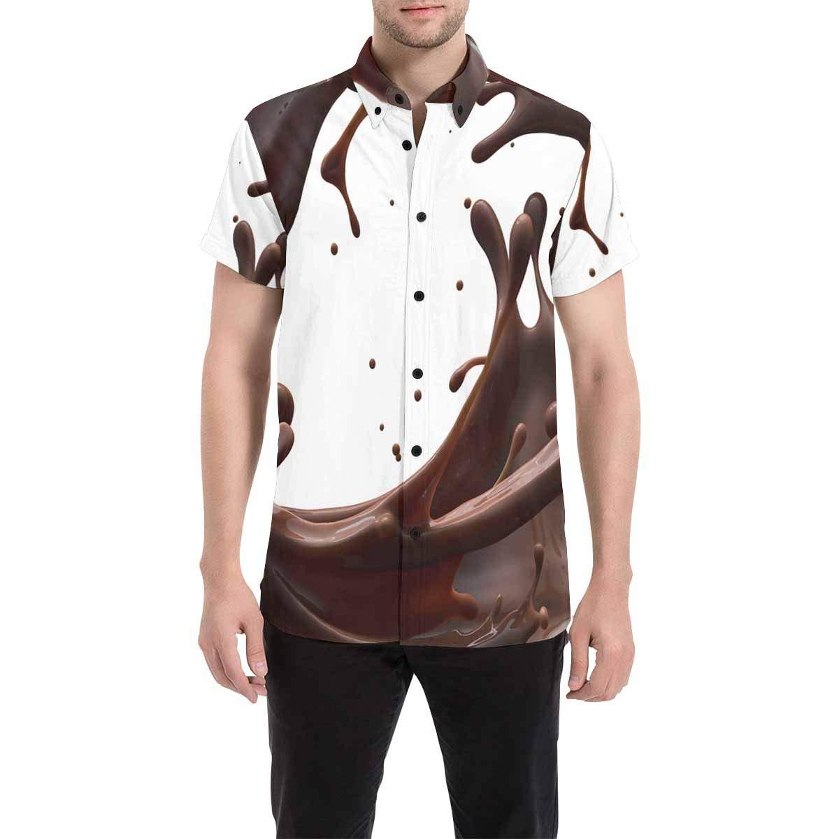 InterestPrint Mens Casual Shirt Emotions Emoicons in Galaxy T Shirts Casual Short Sleeve Tee Shirts