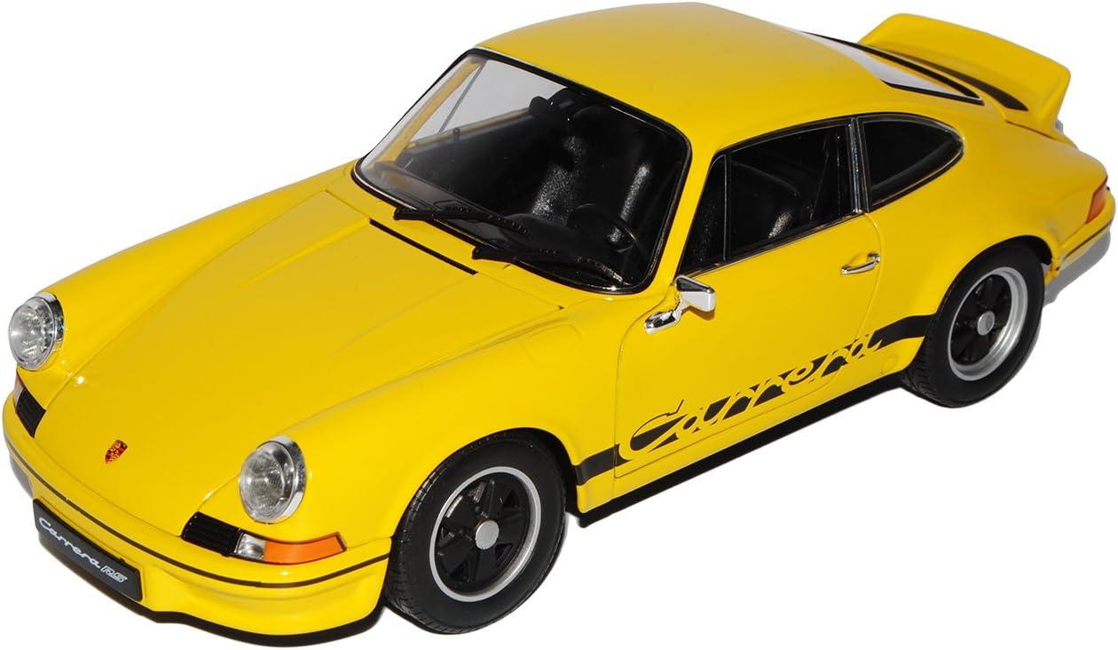 Porsche 911 Carrera RS 1973 schwarz Modellauto 1:18 Welly