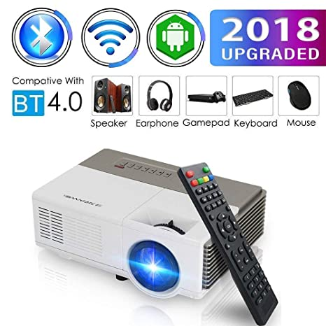 Amazon.com: Bolsillo Bluetooth WiFi Mini proyector HDMI ...