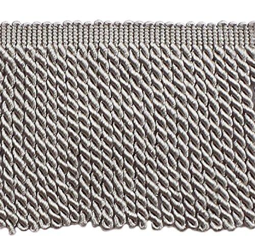 Bullion Fringe (5 Yard Value Pack - 6 Inch Long Grey Bullion Fringe Trim, Style# BFS6 Color: Silver Grey - 049 (15 Ft))